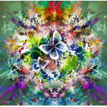 Puzzle  Grafika-00784 Frühlingsblumen und Schmetterlinge