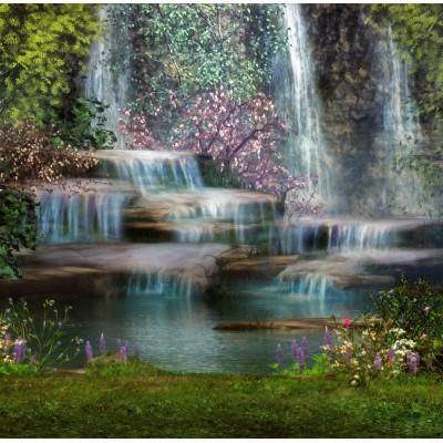 Puzzle Grafika-00795 Bezaubernder Wasserfall