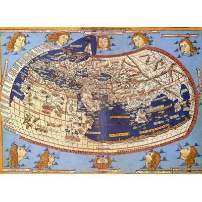 Puzzle Grafika-00919 Claudius Ptolemy: Weltkarte, 1482