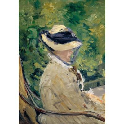 Puzzle Grafika-01129 Edouard Manet - Frau Manet, 1880