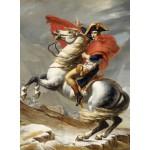 Puzzle  Grafika-01186 Jacques-Louis David: Bonaparte beim Überschreiten der Alpen am Großen Sankt Bernhard