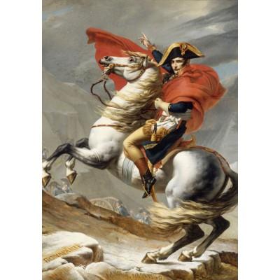 Puzzle Grafika-01187 Jacques-Louis David: Bonaparte beim Überschreiten der Alpen am Großen Sankt Bernhard