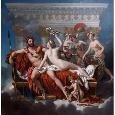 Puzzle Grafika-01194 Jacques-Louis David: Mars entwaffnet durch Venus und die Grazien, 1824