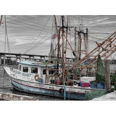 Puzzle Grafika-01249 Fischerboot