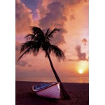 Puzzle  Grafika-01265 Sonnenuntergang im Paradies