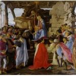 Puzzle  Grafika-01281 Sandro Botticelli: Adoration of the Magi (Zanobi Altar), 1475