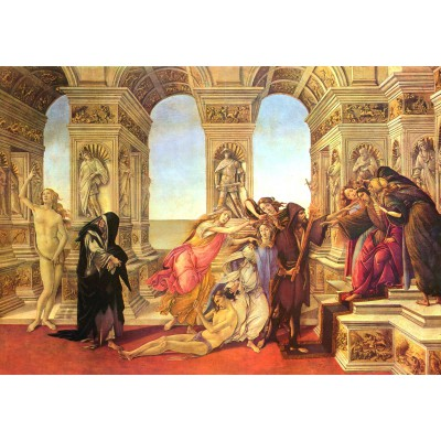 Puzzle Grafika-01282 Sandro Botticelli: Die Verleumdung des Apelles, 1495-1497