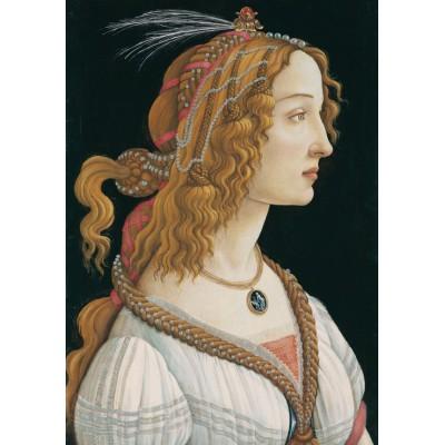 Puzzle Grafika-01283 Sandro Botticelli: Porträt einer jungen Frau, 1494