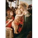 Puzzle  Grafika-01288 Sandro Botticelli: Jungfrau und das Kind mit Johannes, 1470-1475