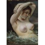 Puzzle  Grafika-01289 Gustave Courbet: Die Frau in den Wellen, 1868