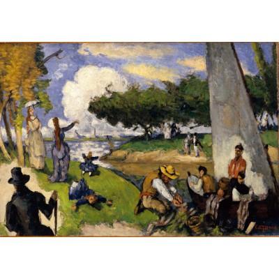 Puzzle Grafika-01291 Paul Cézanne: Die Fischer (fantastische Szene), 1875