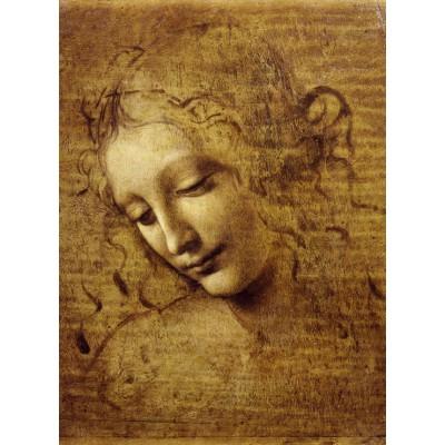 Puzzle Grafika-01295 Leonardo da Vinci: Gesicht der Giovane Fanciulla, 1508