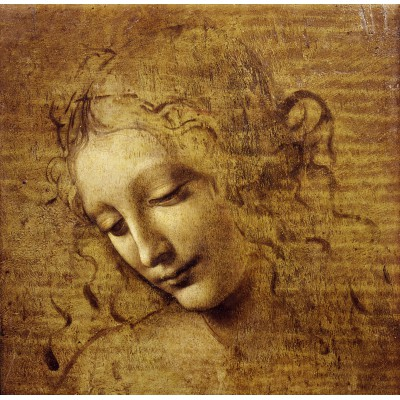 Puzzle Grafika-01296 Leonardo da Vinci: Gesicht der Giovane Fanciulla, 1508