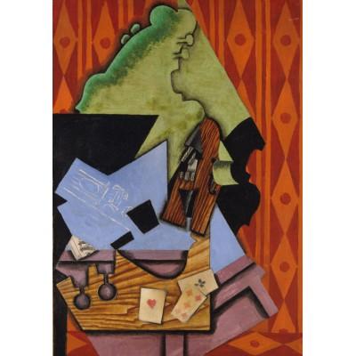 Puzzle Grafika-01297 Juan Gris: Violine und Spielkarten auf einer Tabelle, 1913