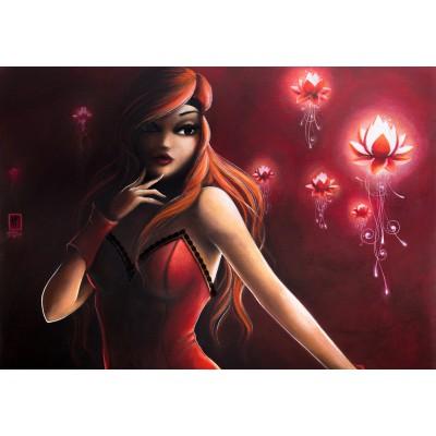 Puzzle Grafika-01330 Misstigri: Red Light Flower