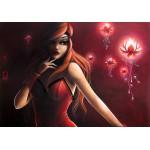 Puzzle  Grafika-01333 Misstigri: Red Light Flower