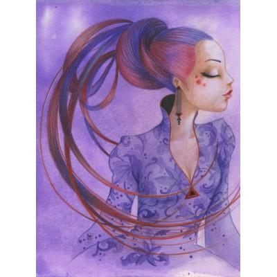 Puzzle Grafika-01338 Misstigri: Violette