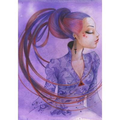 Puzzle Grafika-01339 Misstigri: Violette