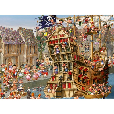 Puzzle Grafika-01456 François Ruyer: Piraten