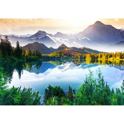 Puzzle Grafika-01467 Fluss im Gebirge