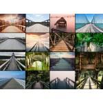 Puzzle  Grafika-01477 Collage - Brücken