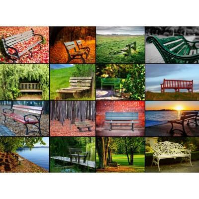 Puzzle Grafika-01482 Collage - Bänke
