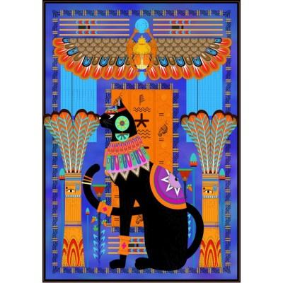 Puzzle Grafika-01492 Ägyptische Katze