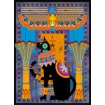 Puzzle  Grafika-01495 Ägyptische Katze