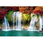 Puzzle  Grafika-01504 Wasserfall im Wald