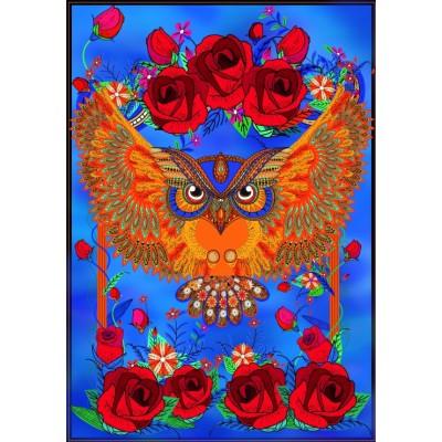 Puzzle Grafika-01505 Owl & Roses