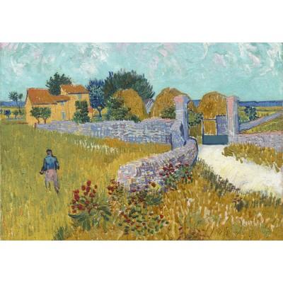 Puzzle Grafika-01512 Vincent Van Gogh - Farmhouse in Provence, 1888