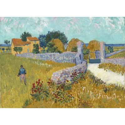 Puzzle Grafika-01513 Vincent Van Gogh - Farmhouse in Provence, 1888