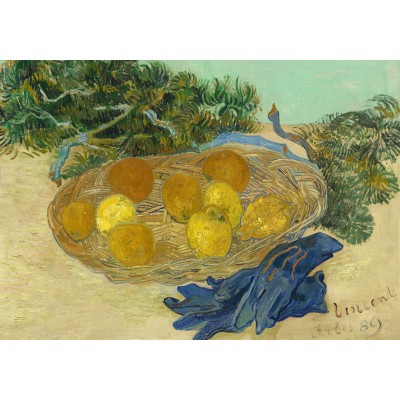 Puzzle Grafika-01517 Vincent Van Gogh - Still Life of Oranges and Lemons with Blue Gloves, 1889