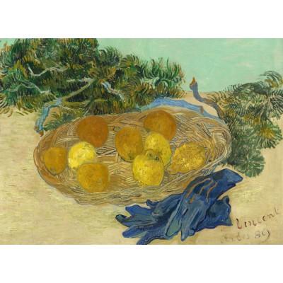 Puzzle Grafika-01518 Vincent Van Gogh - Still Life of Oranges and Lemons with Blue Gloves, 1889