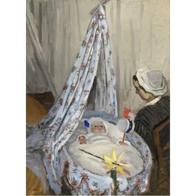 Puzzle Grafika-01528 Claude Monet - Die Wiege, Camille mit dem Sohn des Künstlers Jean, 1867