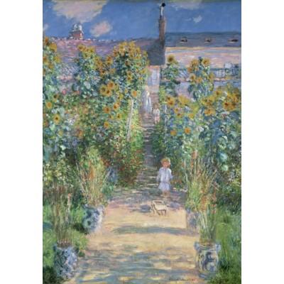Puzzle Grafika-01531 Claude Monet - Garten des Künstlers in Vétheuil, 1880