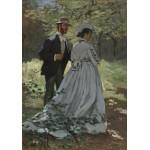 Puzzle  Grafika-01534 Claude Monet - Bazille und Camille, 1865