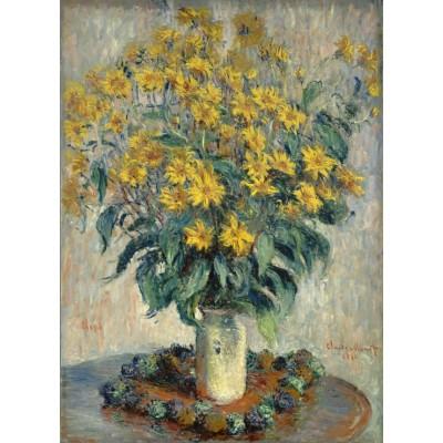 Puzzle Grafika-01537 Claude Monet - Jerusalem Artischocke Blumen, 1880