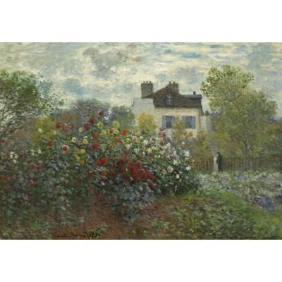 Puzzle Grafika-01543 Claude Monet - Der Garten des Künstlers in Argenteuil, 1873