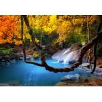 Puzzle  Grafika-01566 Wasserfall im Wald