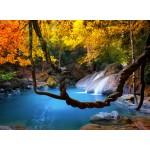 Puzzle  Grafika-01567 Wasserfall im Wald