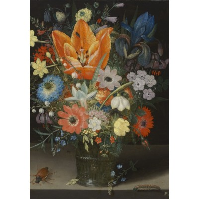 Puzzle Grafika-01585 Peter Binoit: Still Life with Iris, 1623
