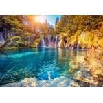 Puzzle  Grafika-01656 Nationalpark Plitvicer Seen, Kroatien