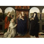 Puzzle  Grafika-01722 Jan van Eyck - Virgin and Child, with Saints and Donor, 1441