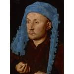 Puzzle  Grafika-01725 Jan van Eyck - Portrait of a Man with a Blue Chaperon, 1430-33