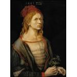 Puzzle  Grafika-01739 Albrecht Dürer - Selbstbildnis mit Eryngium, 1493