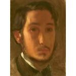 Puzzle  Grafika-01765 Edgar Degas: Self-Portrait with White Collar, 1857
