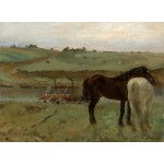 Puzzle  Grafika-01768 Edgar Degas: Horses in a Meadow, 1871