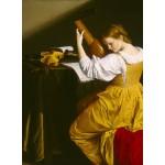 Puzzle  Grafika-01780 Orazio Gentileschi: The Lute Player, 1612/1620