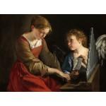 Puzzle  Grafika-01783 Orazio Gentileschi and Giovanni Lanfranco: Saint Cecilia and an Angel, 1617/1618